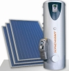 Forced circulation solar heating